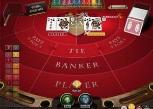 Online Baccarat spil - spil Punto Banco Online gratis