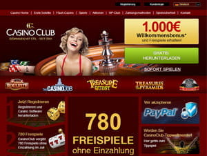 casino club online test