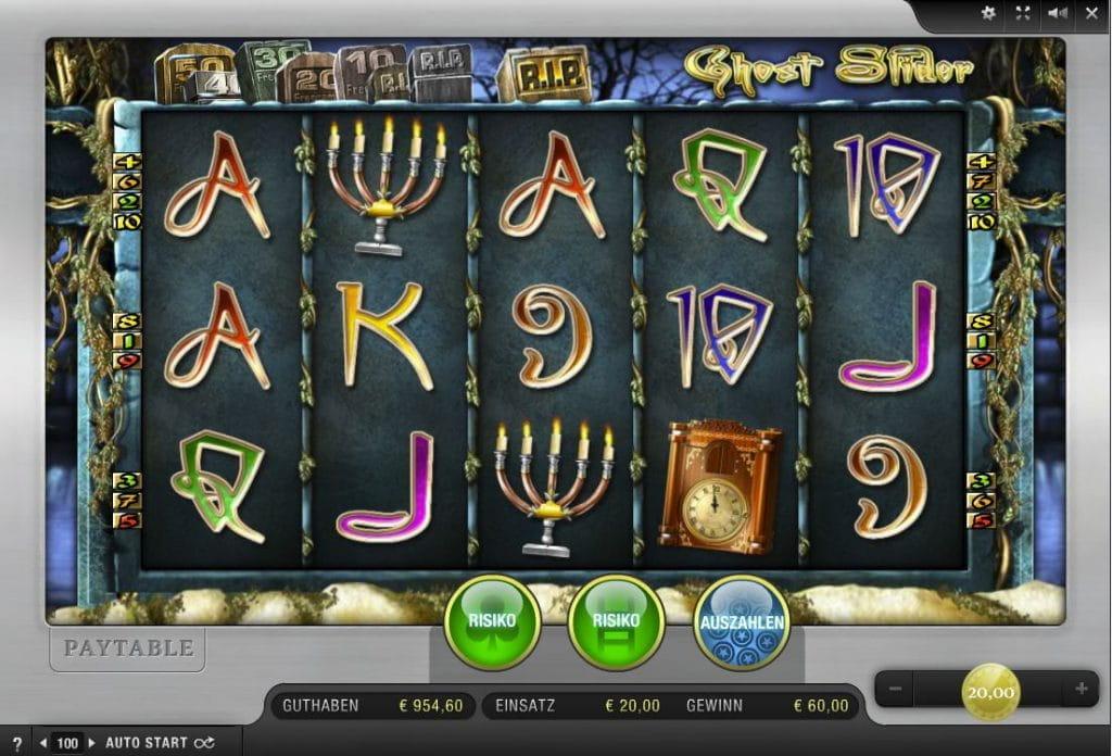 Online Casinos mit Ghost Slider