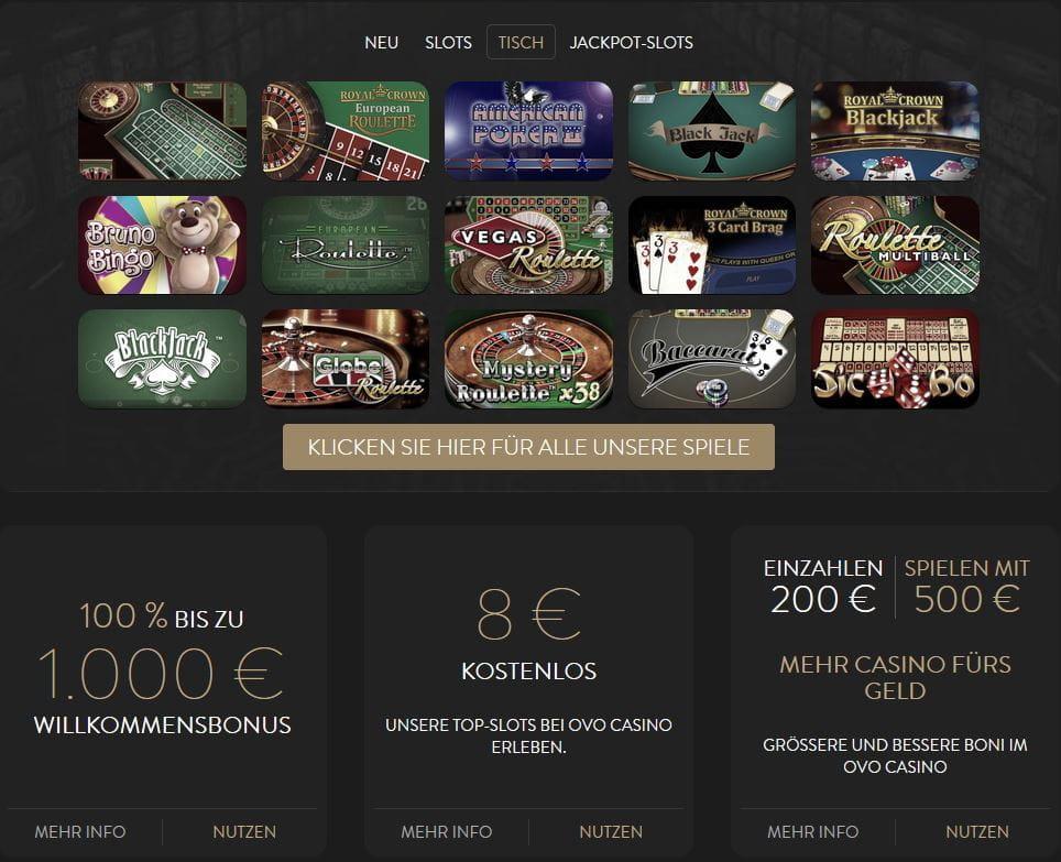 Test Des Ovo Casinos Spielbank Guide