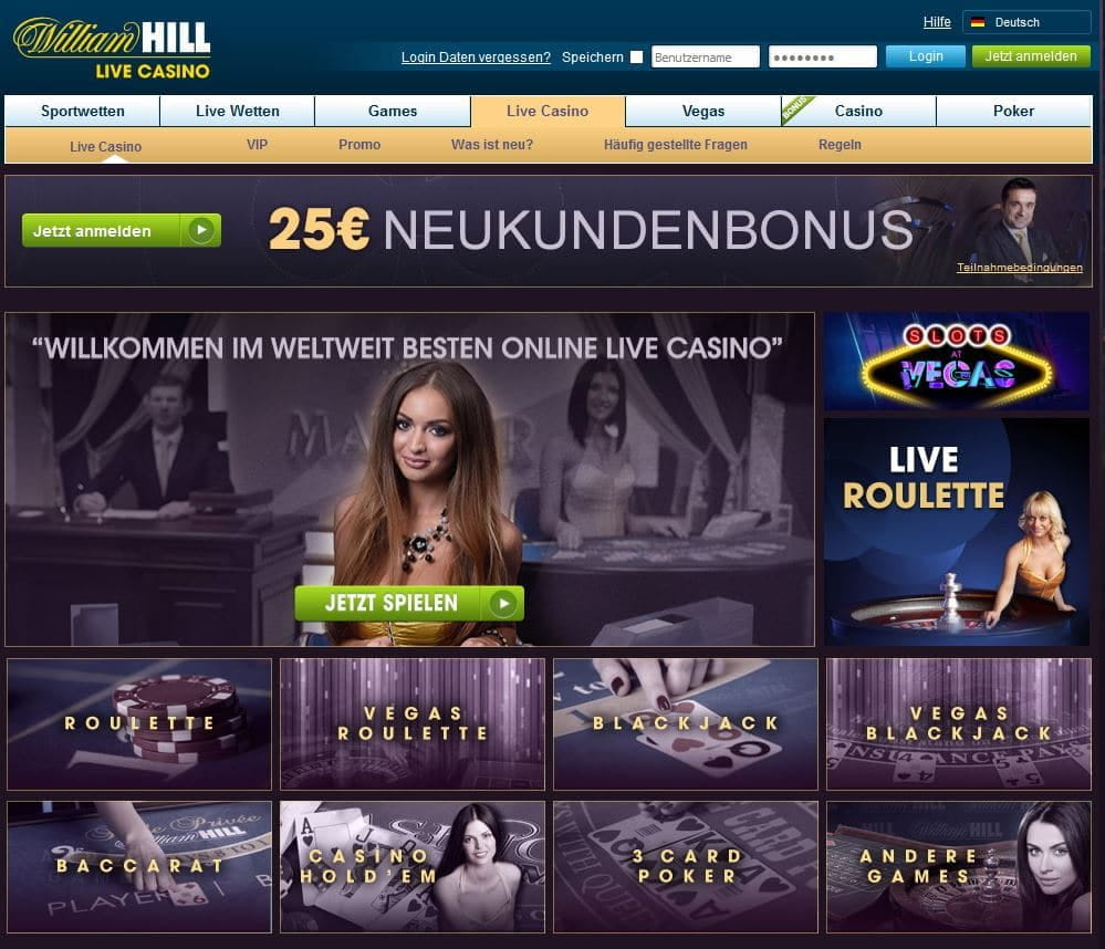 william hill casino test