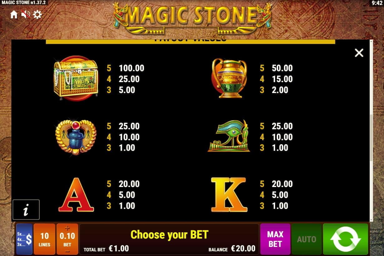 Bally Wulff Magic Stone Slot