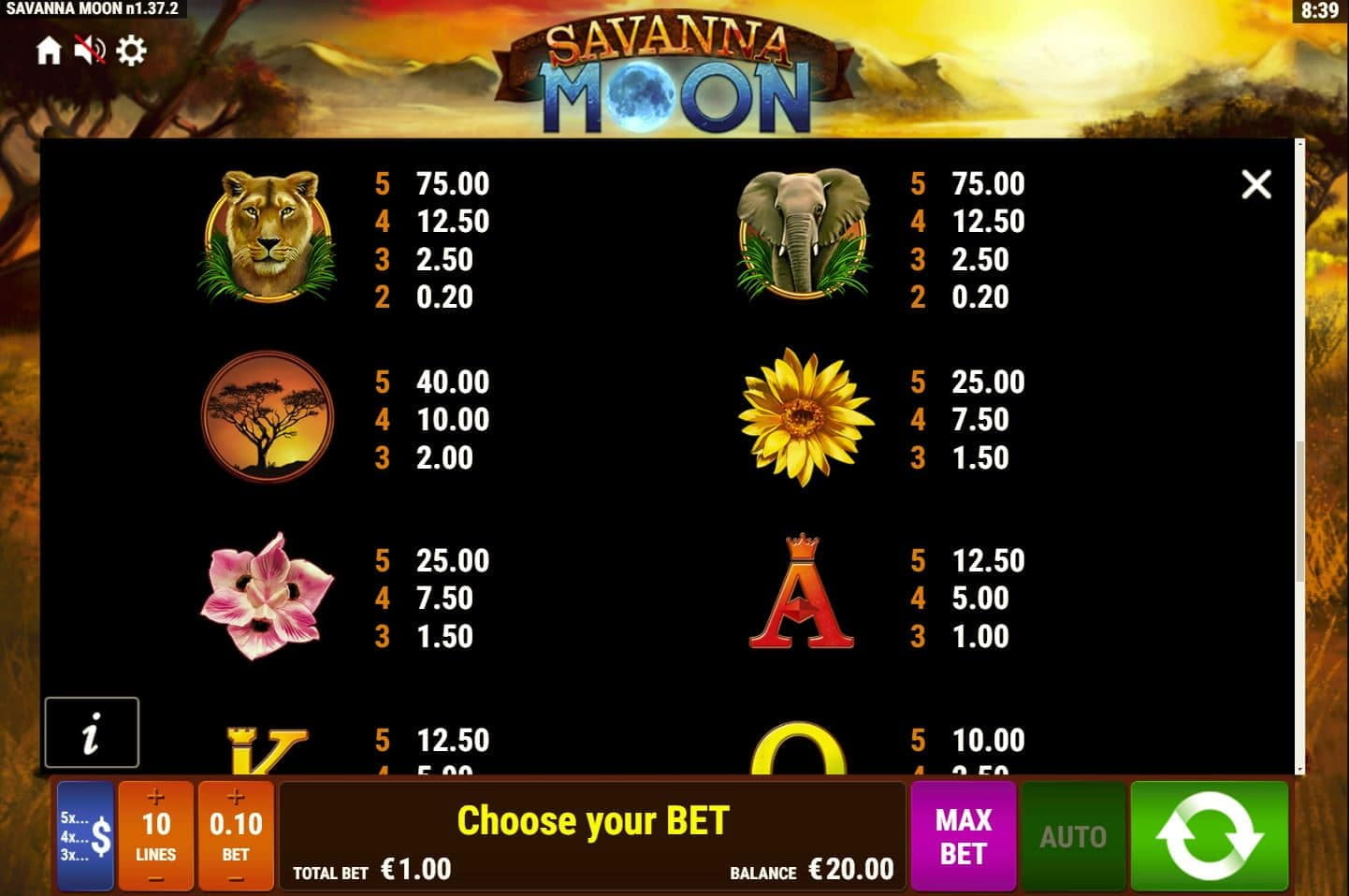 Bally Wulff Savanna Moon Slot