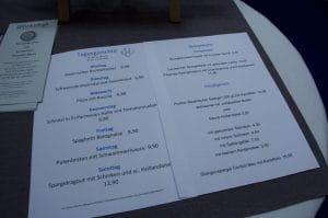 Spielbank Bad Fussing Gastronomie menu