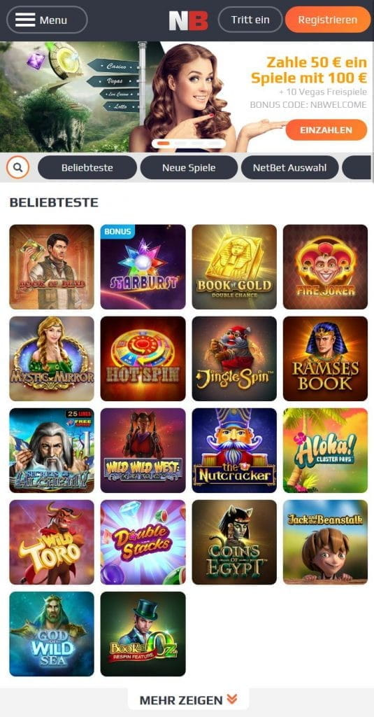 NetBet mobile Casino