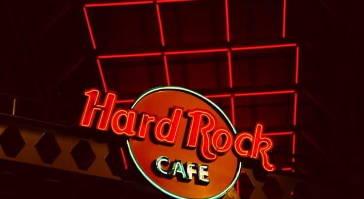 Logo des Hard Rock-Cafés.